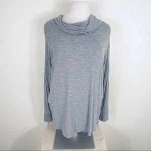 Rachel Zoe Drape Cowl Neck Sweater Medium Blue